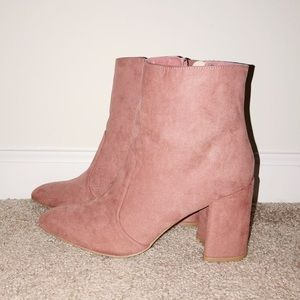 Boutique pink booties